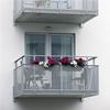 Balkongsystem, designräcke med perforerad plåt