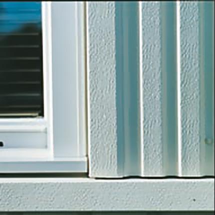 Hogstad fasadplåt aluminium, detalj