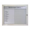 Ramex Låsbart anslagsskåp D28-G med invändiga glas för A4, vitplåt för magnet och rubriklamell