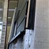 UBAB Solvägg solpaneler kan ställas i samma skenor som kompletterade fasadbeklädnader
