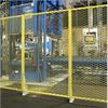 Häfla Bruks sträckmetall, pulverlackerat maskinskydd