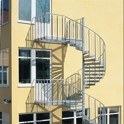 Spiraltrappa för bostäder, barnsäker trappa
