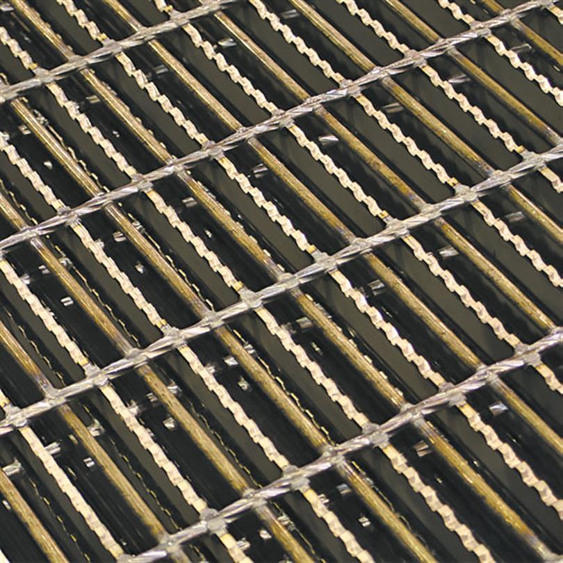 Gallerdurk av stål med pressvetsad rundstång