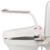 Etac Hi-Loo snedställd toalettsittsförhöjare med armstöd