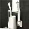 Etac Rex uppfällda toalettarmstöd med stödben