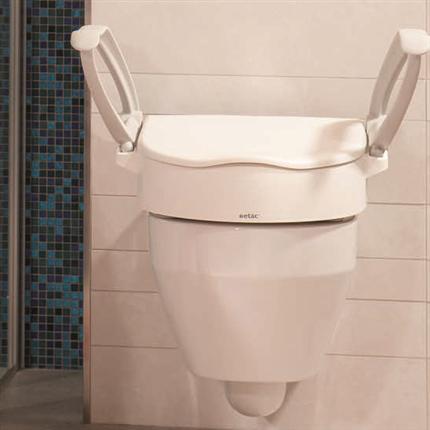 Toalettsittsförhöjare, höjdjusterbar, flexibel och enkel, stabil och bekväm, justerbar, utrustning för funktionsnedsatta
