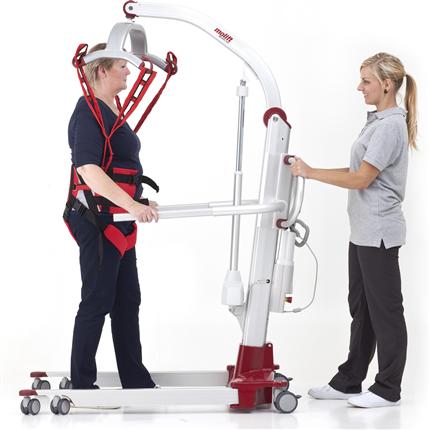 Mobillyft för gåträning, hög lyftkapacitet, batteridrivna, ergonomiskt