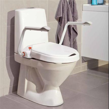 Fast toalettsittsförhöjare med armstöd, ergonomisk toalettsitsförhöjare
