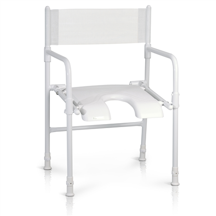 Etac Rufus hopfällbar duschstol med ryggband