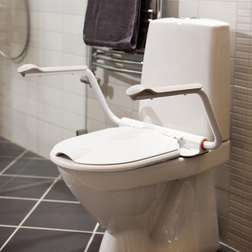 Funktionellt toalettarmstöd, stabil support, stadigt armstöd