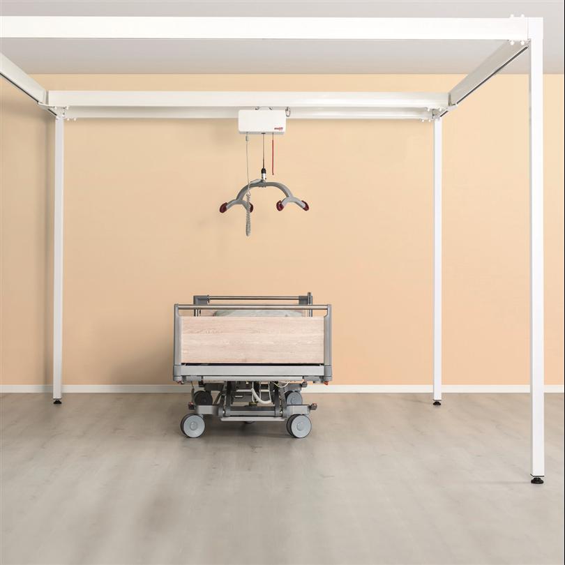 Fristående lyftsystem, hög lyftkapacitet, aluminiumram, hjälpmedel för funktionsnedsatta