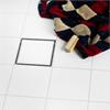 golvbrunn med runda överdelar, lågbyggd brunn, fyrkantiga klinkerram, klassisk placering, tokyo, multi drain