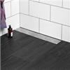 Duschränna, avlång överdel med droppformat mönster, golvbrunn