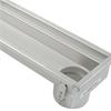 Avlång golvränna i rostfritt stål, tätningsring, vikttålig ränna