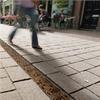 Markränna av glasfiberförstärkt, polymerbetong, golvbrunn