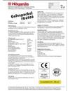 Produktblad Golvspackel