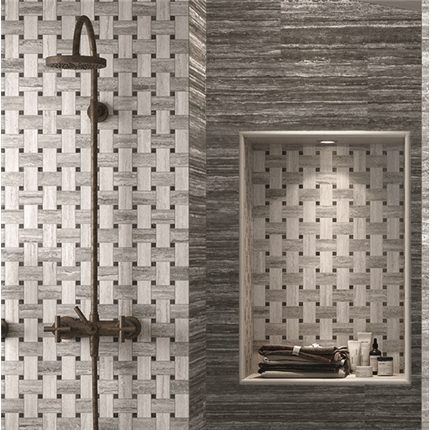 CCH väggplattor Italian Icon - Vein Cut Mosaico Chesterfield Naturale och  Naturale rett