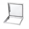 Dione CCA aluminium lucka med gångjärn, förhandsfylld med lätt kompositskiva med tätning