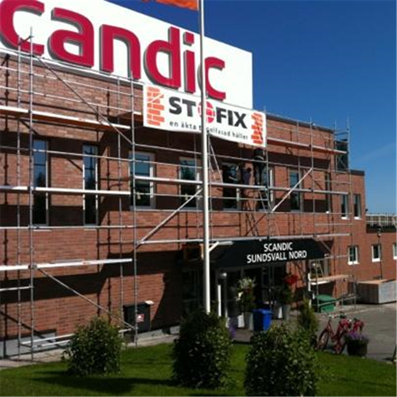 Stofix tegelfasader, Scandic Hotel Nord, Sundsvall