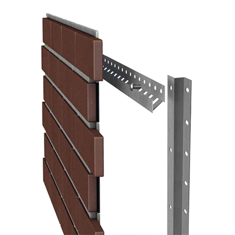 Stofix tegelpaneler installeras på ett skräddarsytt monteringssystem