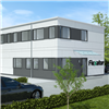 Flexator modulbyggnader, kontor, enkelkorridor, 2 plan