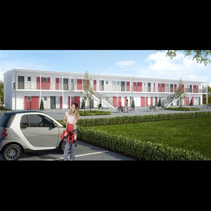 Flexator modulbyggnader, studentboende