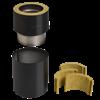 Kopplingsstycke halvisolerad 32,5 till DW VISION stålskorsten för alla eldstäder