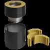 Kopplingsstycke helisolerat 50 till DW VISION stålskorsten