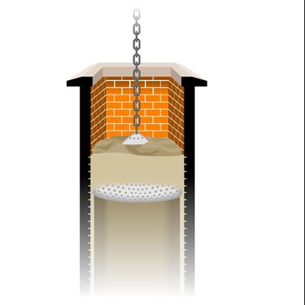 Kanaltätning, Keramisk tätningsmassa