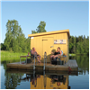 Bastuflotte - bastubåt - flytande gäststuga