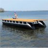 Bryggbåt av modulpontoner