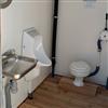 Toalett på miljöbrygga
