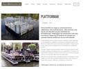 Pontonplattformar på webbplats