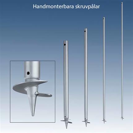 Handmonterbara skruvpålar