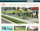 Svanen vertikalgrindar på webbplats