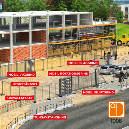Byggstängsel och mobila grindar
