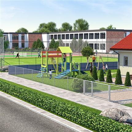 Demex Skolor, parker och lekplatser områdesskydd