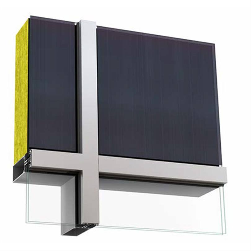 Sapa Solar BIPV, ogenomsiktligt fasadglas, tunnfilm