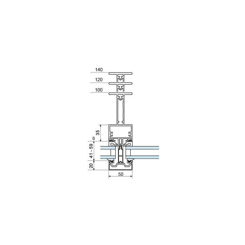 Fasad 4150 med I-formad profil