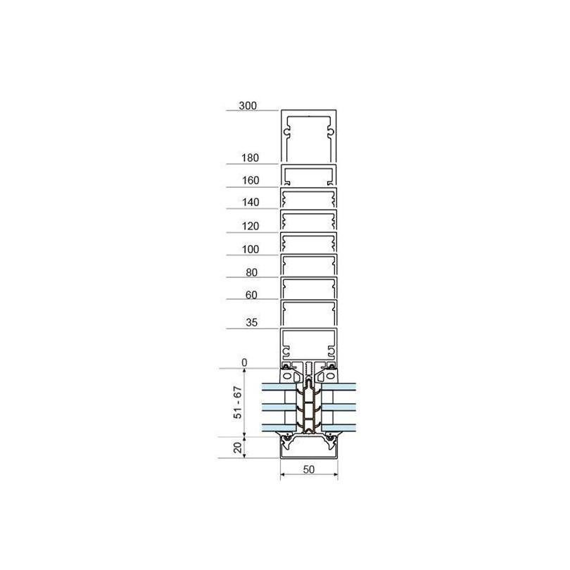 Fasad 4150 SX Extra Isolated med rektangulär profilform