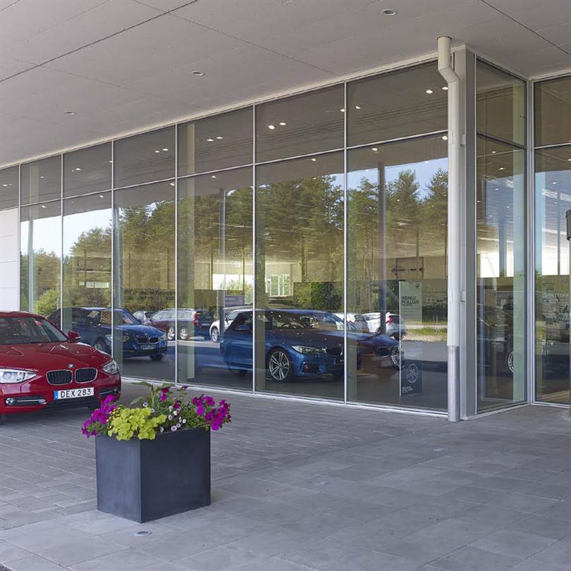 Sapa Fasadsystem 5050 SG, Autopartner, Skövde
