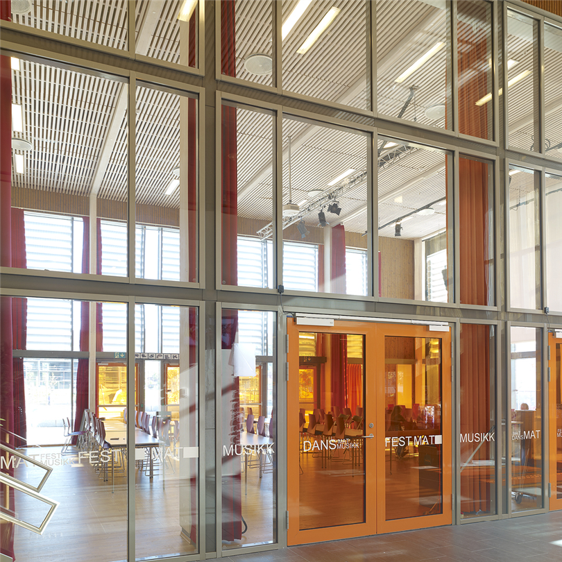 Sapa Fasad 4150, EI 30, Ranheim Skole, Norge