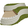 Konvexa och konkava murar av Verti-Block