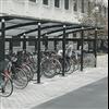 Cykelskydd Ymer med tak av kanalplast