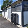 Weland Tellus miljöhus, miljöstationer, förråd