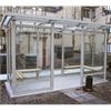 Weland rökrum/väderskydd City med sittbänkar