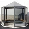 Weland rökrum Oktagon med sittbänkar