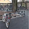 Cykelställ med ramlås, hjulhållare med varmförzinkat stål