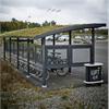 Färdigmonterat cykelskydd, underhållsfri cykelparkering