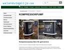 Aero kompressorpump på webbplats